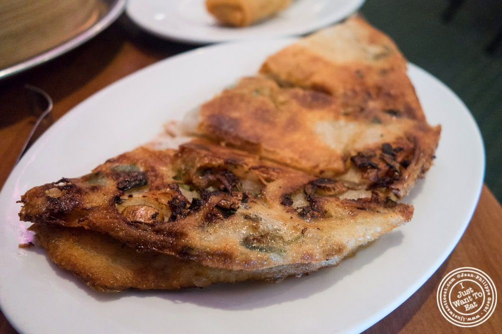 image of scallion pancakes at Joe's Shanghai in New York, NY