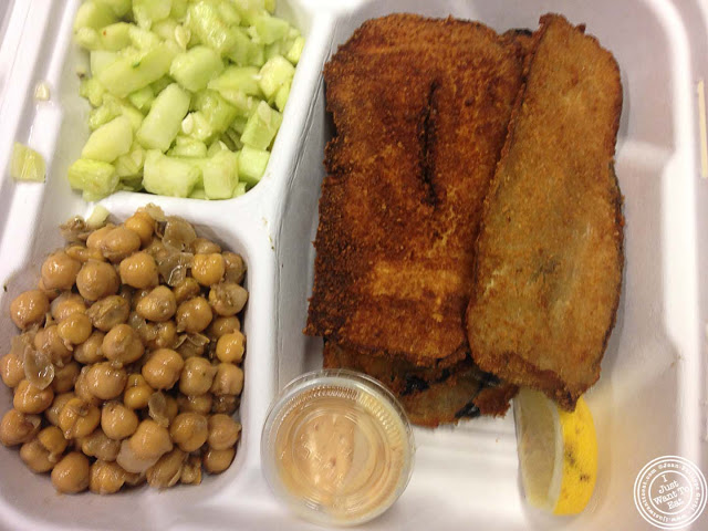 image of eggplant schnitzel at Schnitzel and Things Food Truck in NYC, New York