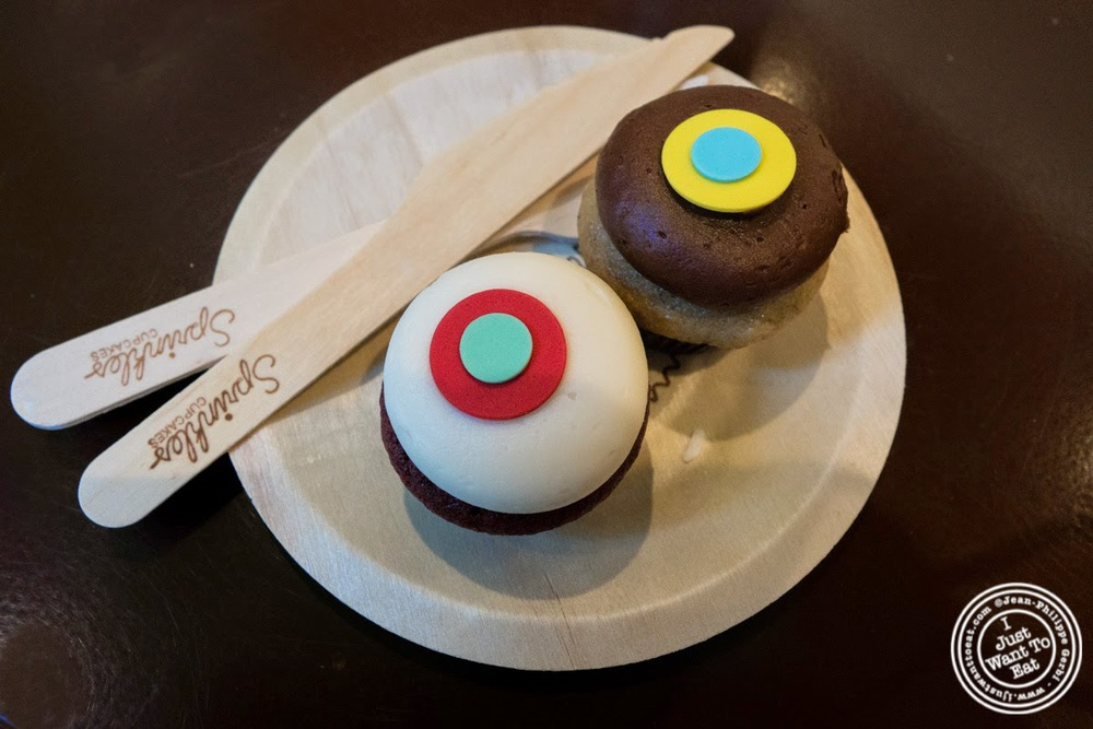 mini cupcakes at Sprinkles Cupcakes in New York, NY