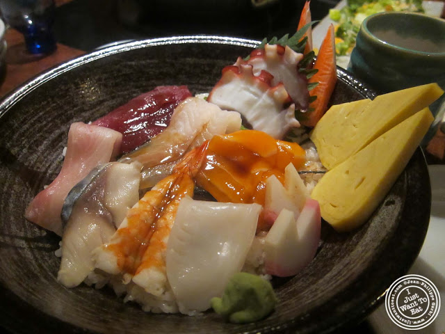 image of chirashi at East Japanese Restaurant in NYC, New York