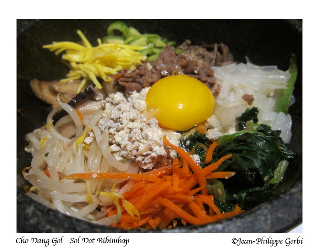 Image of Dol Sot Bibimbap at Cho Dang Gol Korean restaurant in NYC, New York