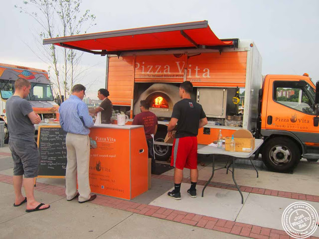 image of pizza vita food truck at Pier 13 in Hoboken, NJ