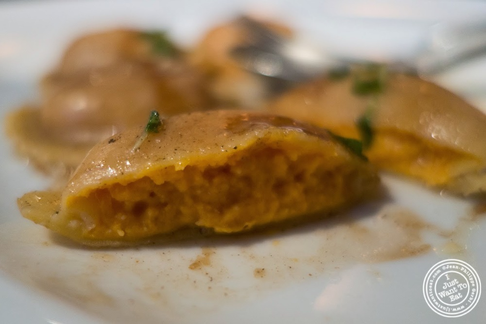 image of sweet potato ravioli at Abboccato Italian restaurant in NYC, New York