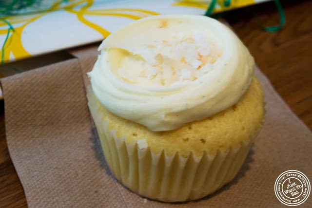 image of vanilla cake with coconut icing Cupcake at Butter Lane in the East Village, NYC, New York
