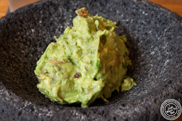 image of guacamole at Papatzul Mexican restaurant in Soho, NYC, New York