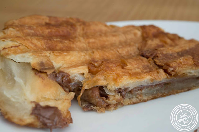 image of nutella croissant at Little Fox Cafe in Chinatown, NYC, New York
