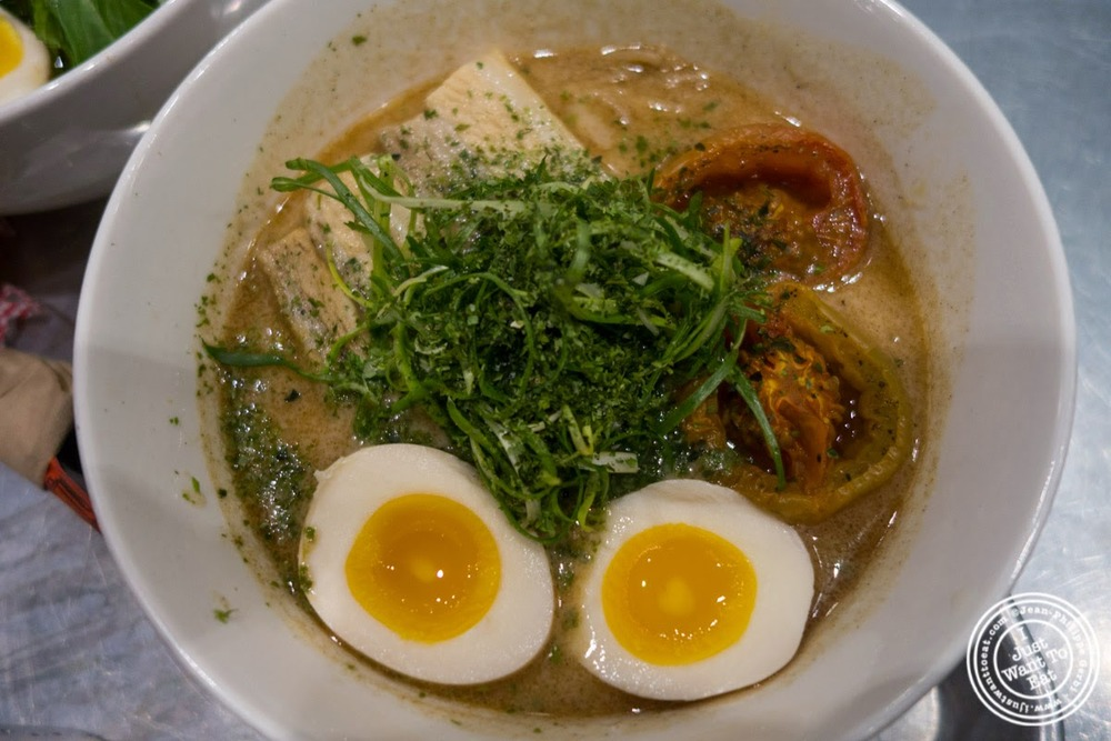 image of roasted garlic mazemen at Ivan Ramen at The Gotham West Market