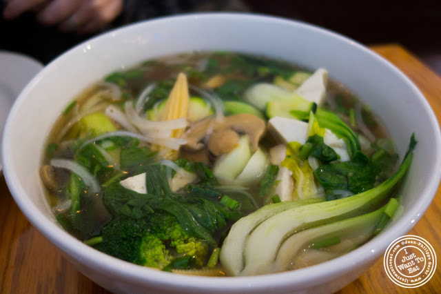 image of mixed vegetable Vietnamese soup at Pho Nomenon in Hoboken, NJ