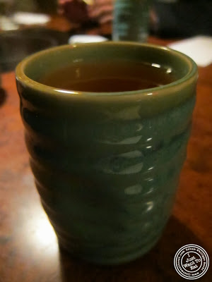 image of Green tea at East Japanese Restaurant in NYC, New York