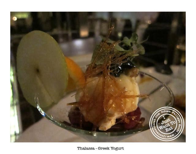 Image of Greek Yogurt at Thalassa Greek Restaurant in Tribeca, NYC, New York
