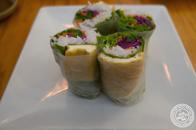 vegetarian summer rolls at Pho Nomenon in Hoboken, NJ