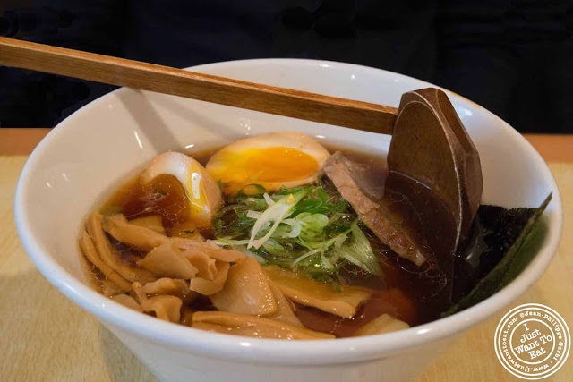 Image of Shoyu ramen at Sapporo Ramen in NYC, New York