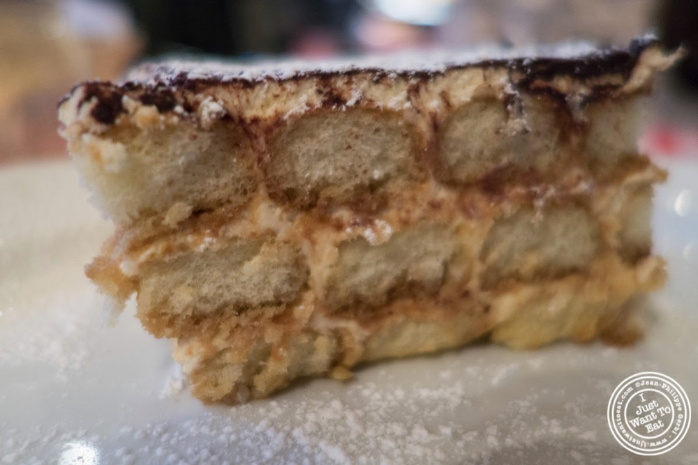 image of tiramisu at Johnny Pepperoni in Hoboken, NJ