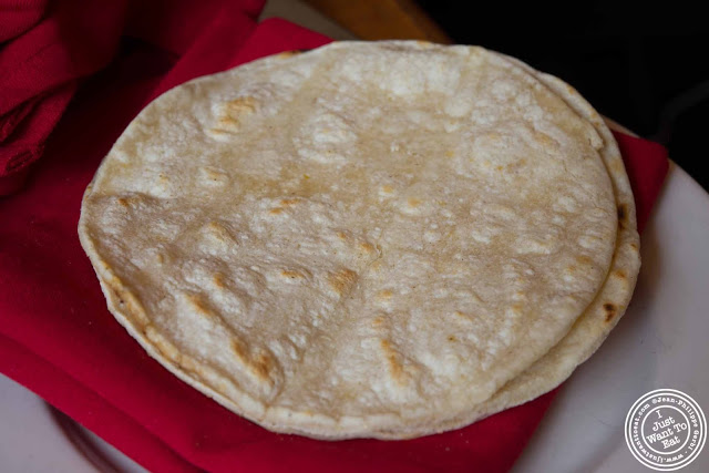 image of Soft tortilla at Papatzul Mexican restaurant in Soho, NYC, New York
