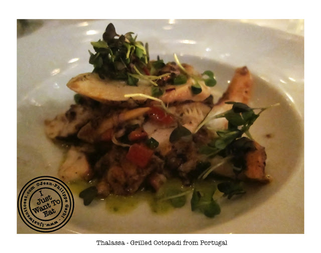 Image of Grilled Octopus from Portugal at Thalassa Greek Restaurant in Tribeca, NYC, New York