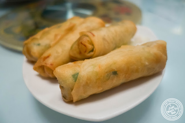 image of vegetable spring rolls at Szechuan Gourmet in Midtown West, NYC, New York