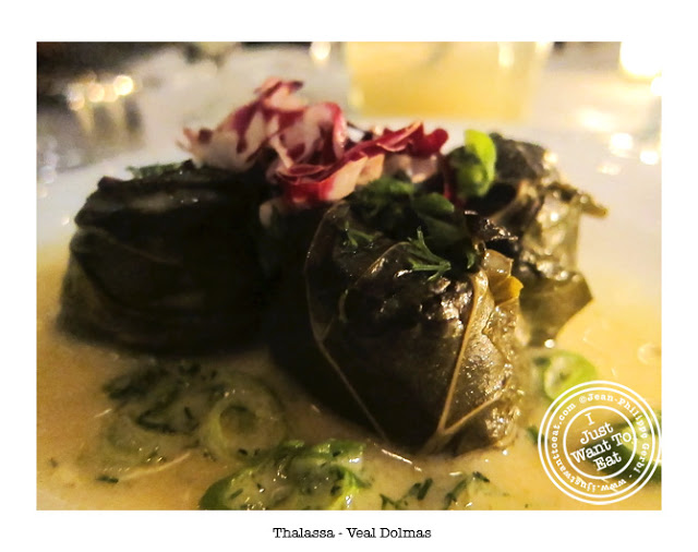 Image of Veal Dolmas at Thalassa Greek Restaurant in Tribeca, NYC, New York