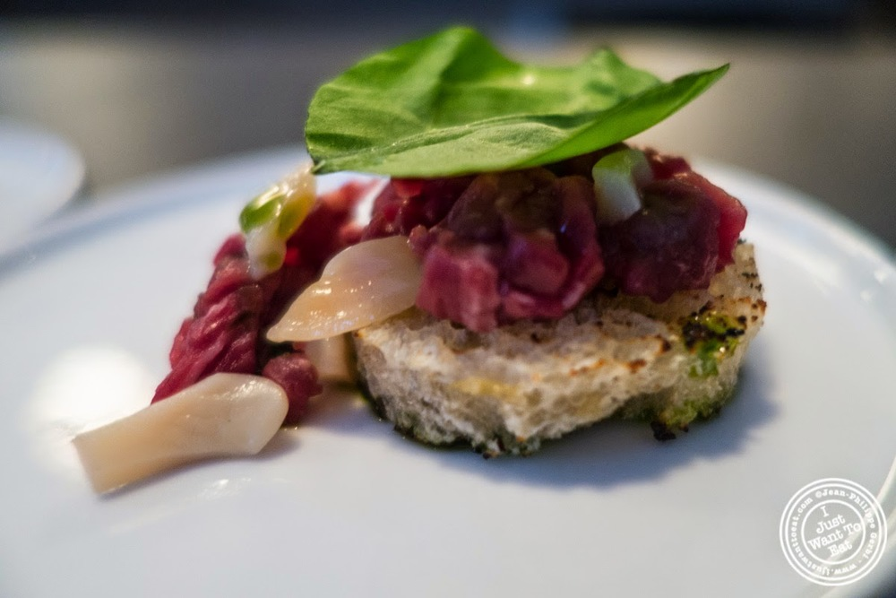 image of beef tartare at Skál on the Lower East Side, NYC, New York
