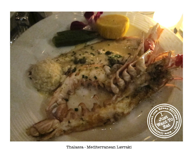 Image of Lavraki or branzino at Thalassa Greek Restaurant in Tribeca, NYC, New York