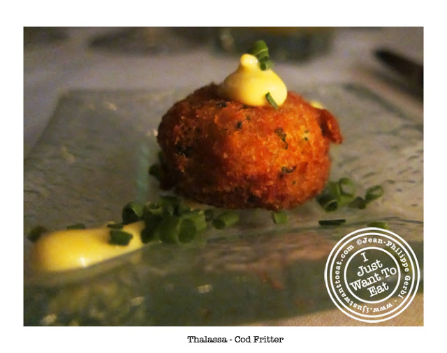 Image of Cod Fritter at Thalassa Greek Restaurant in Tribeca, NYC, New York