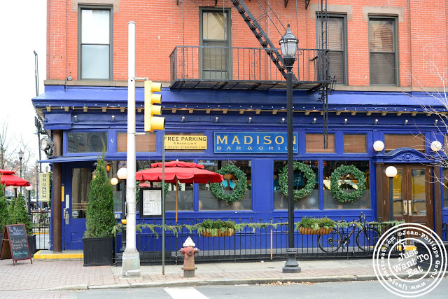 Image of the Entrance of the Madison Bar and Grill in Hoboken, NJ