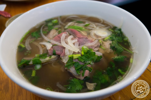 image of Pho Tai Chin Nam Ve Vietnamese soup at Pho Nomenon in Hoboken, NJ