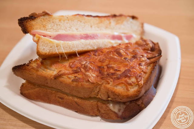 image of croque monsieur at Francois Payard Bakery in NYC, New York