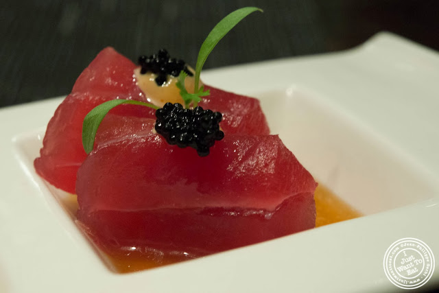 image of tuna sashimi at Aji 53, Japanese restaurant in Brooklyn, New York