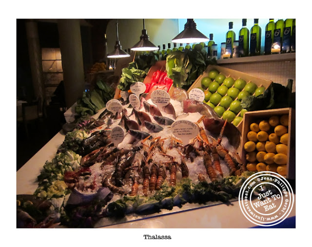 Image of Fish display at Thalassa Greek Restaurant in Tribeca, NYC, New York