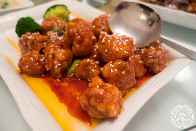 image of crispy orange chicken at Szechuan Gourmet in Midtown West, NYC, New York