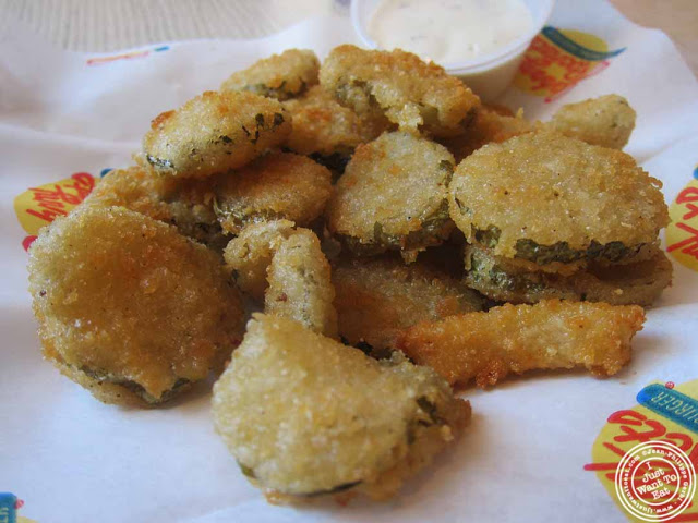 image of fried pickles at Johnny Rockets in Hoboken, NJ