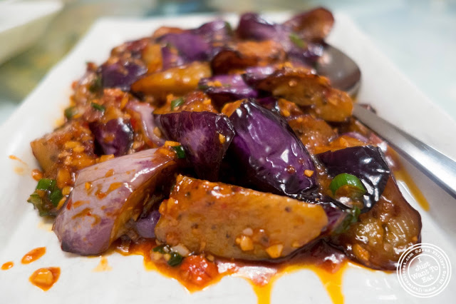 image of eggplant in garlic sauce at Szechuan Gourmet in Midtown West, NYC, New York