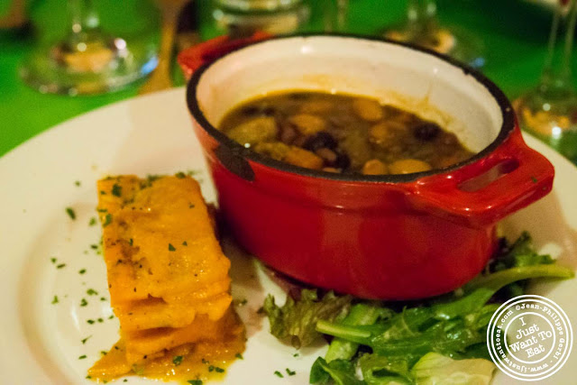 Image of Vegetarian cassoulet and yam cake at Table Verte in the East Village, NYC, New York