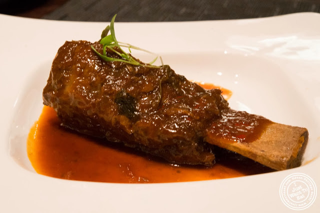 image of BBQ beef short rib at Aji 53, Japanese restaurant in Brooklyn, New York