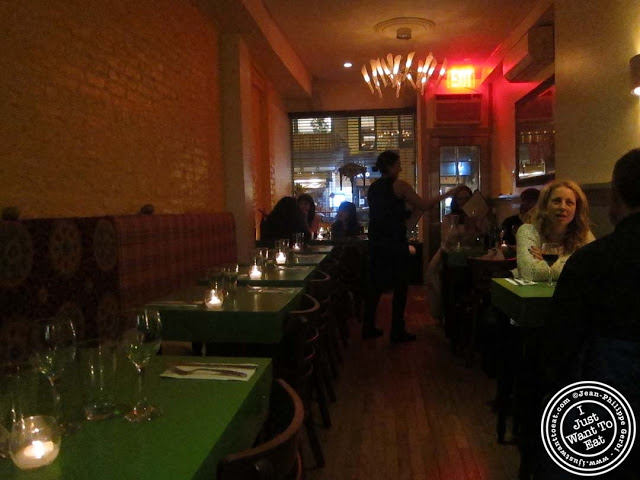 Image of the Dining room of Table Verte in the East Village, NYC, New York