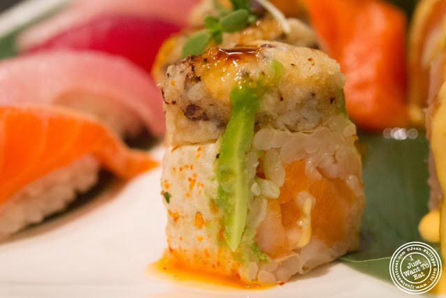 image of monster roll at Aji 53, Japanese restaurant in Brooklyn, New York