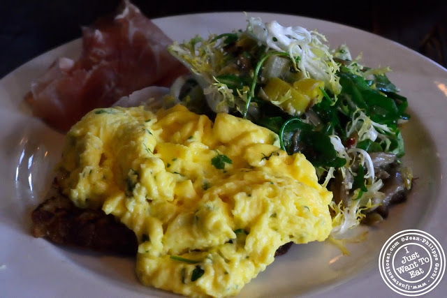 Image of Soft scrambled Farm eggs crostino at Locanda Verde in Tribeca, NYC, New York