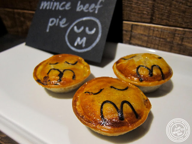 image of minced beef pies at Pie Face in Chelsea, New York