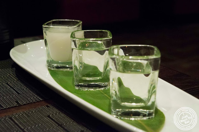 image of Sake tasting at Aji 53, Japanese restaurant in Brooklyn, New York