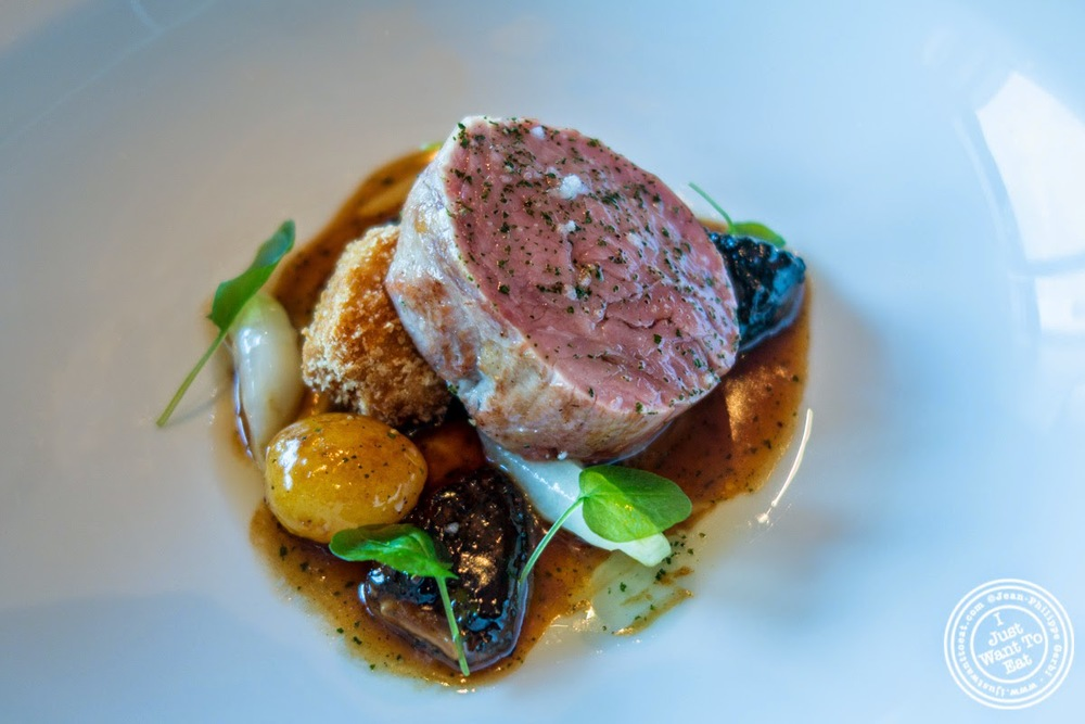 "Marcho Farms' ""selle de veau"" (veal loin) at Per Se in New York, NY"