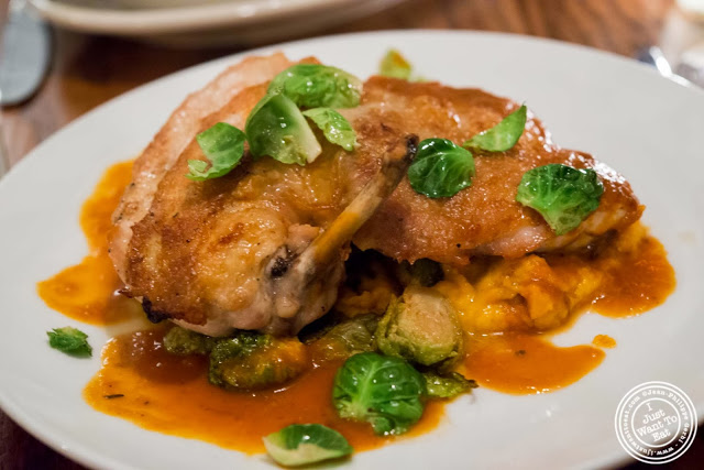 image of roasted chicken at Hunter's in Brooklyn, New York