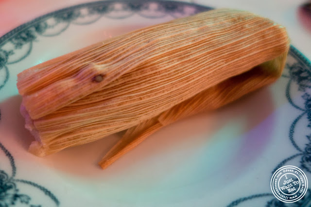 image of chicken tamale at El Maguey Y La Tuna on the Lower East Side, NYC, New York