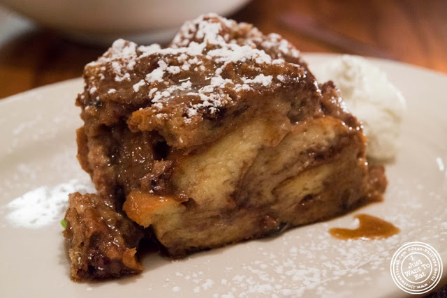 image of nutella bread pudding at Hunter's in Brooklyn, New York