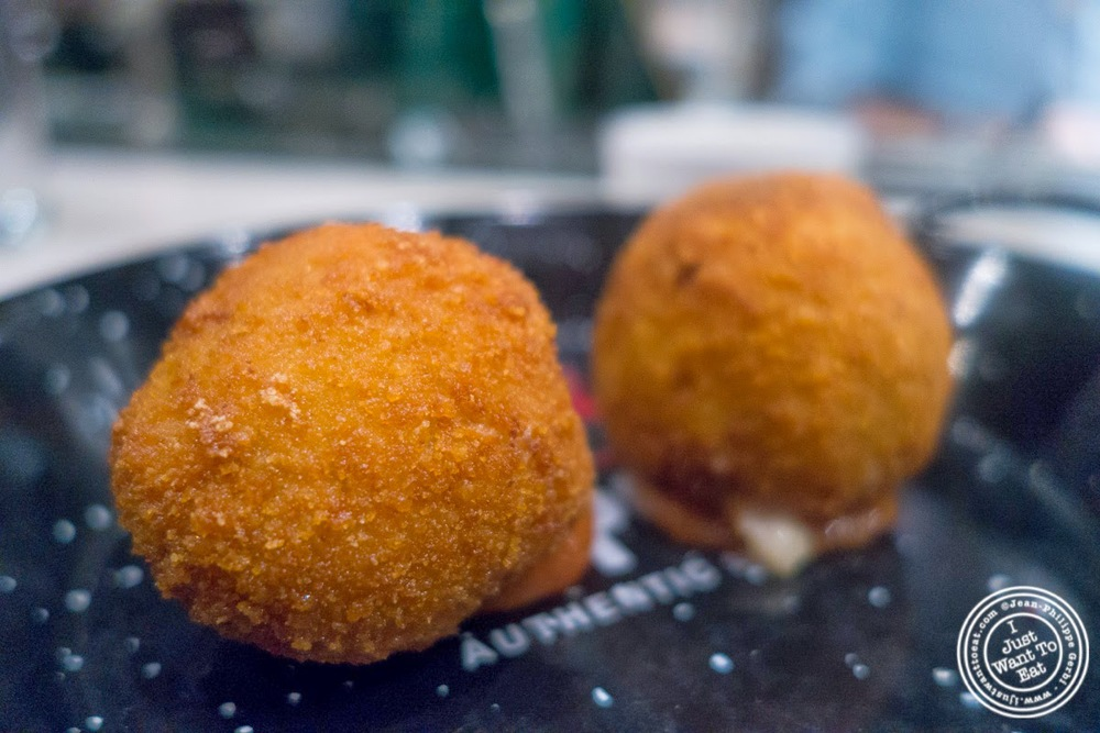 image of Ham croquettes at El Colmado at The Gotham West Market