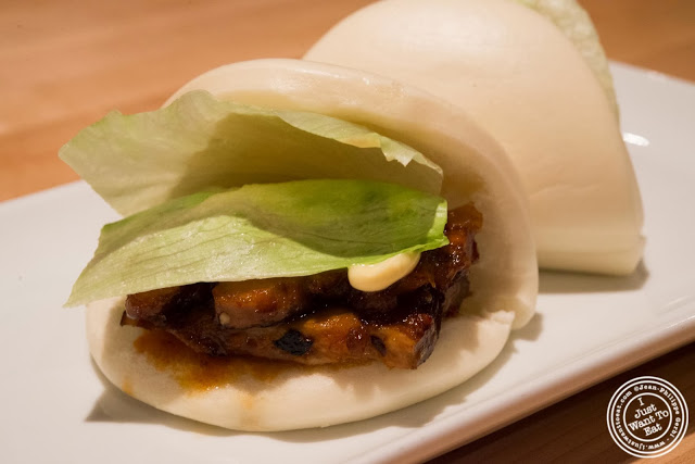 image of pork buns at Ippudo West Side in NYC, New York