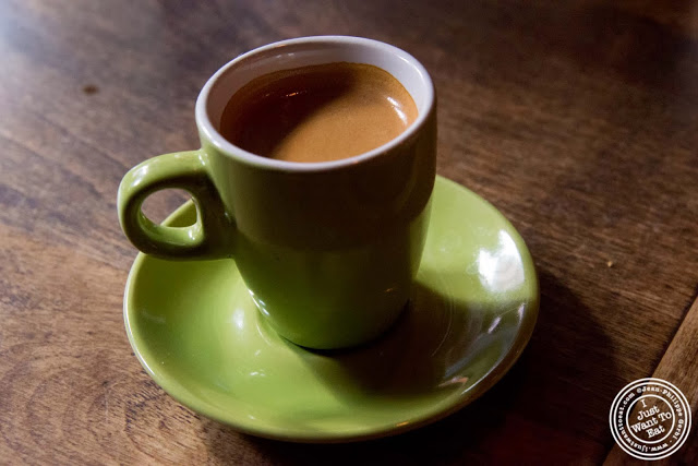 image of espresso at El Cocotero in NYC, New York