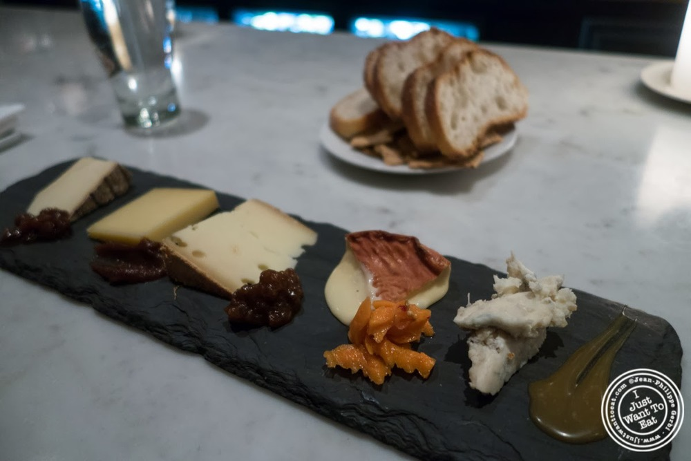 image of cheese plate at Murray's Cheese Bar in the West Village, NYC, New York