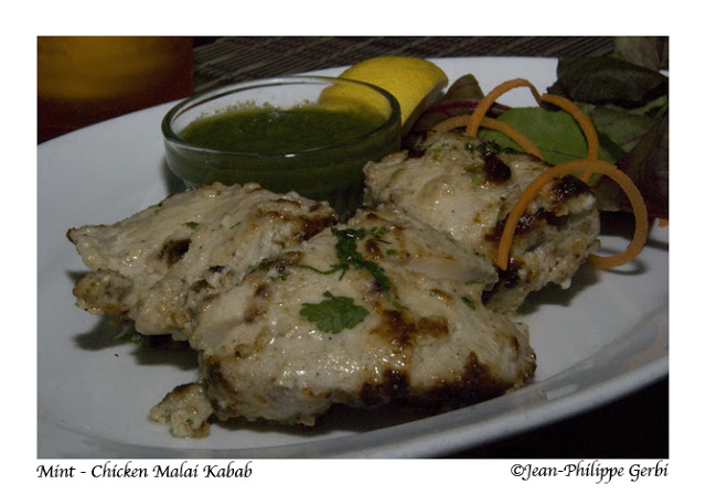 Image of Chicken Malai Kebab at Mint Indian restaurant in NYC, New York