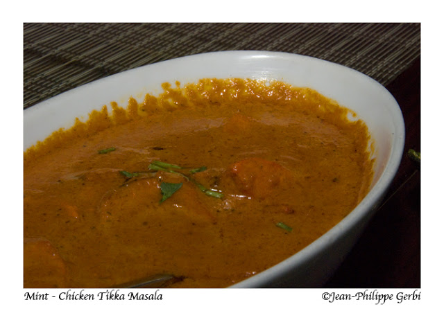 Image of Chicken Tikka Masala at Mint Indian restaurant in NYC, New York