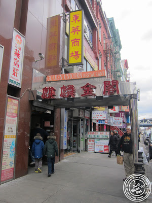Image of the Entrance of the Golden Unicorn in Chinatown NYC, New York